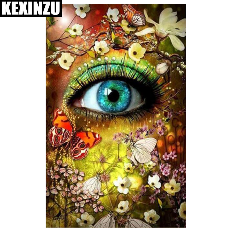 diamond painting 5d diy full square stone Flower eyes 3d embroidery mosaic Rhinestone sale Wall Stickers, Home Deco