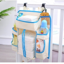 Multifunctional  Bed Hanging Bag Crib Toy Organizer Diaper Storage Cradle Pockets Cot Net Yarn Dispenser Pouch for