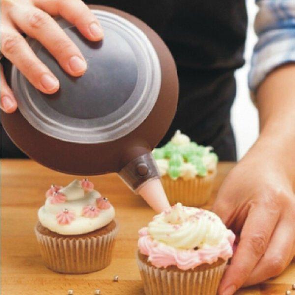 Tortų dekoravimo sausainių sausainių glaistymo švirkšto šokolado plokštelės švirkštimo priemonės silikoninės apvalios formos įrankiai