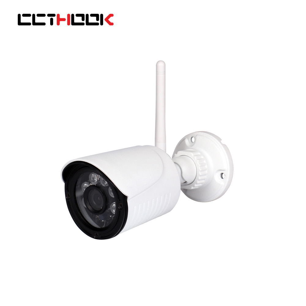 CCTHOOK 1080P 2.0MP 24LED IR Waterproof Bullet IP Camera Outdoor CCTV Camera ONVIF Night Vision P2P IP Security Cam with IR-Cut wistino cctv camera metal housing outdoor use waterproof bullet casing for ip camera hot sale white color cover case