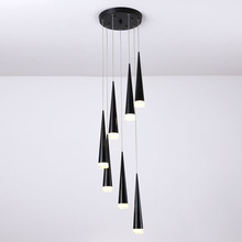 LED Stair Pendant Lights Modren Villa Indoor Lighting Hanglamp Shop Window Pendant Lamps 3/5/7/10/12/15 Heads Lamparas Luminaria
