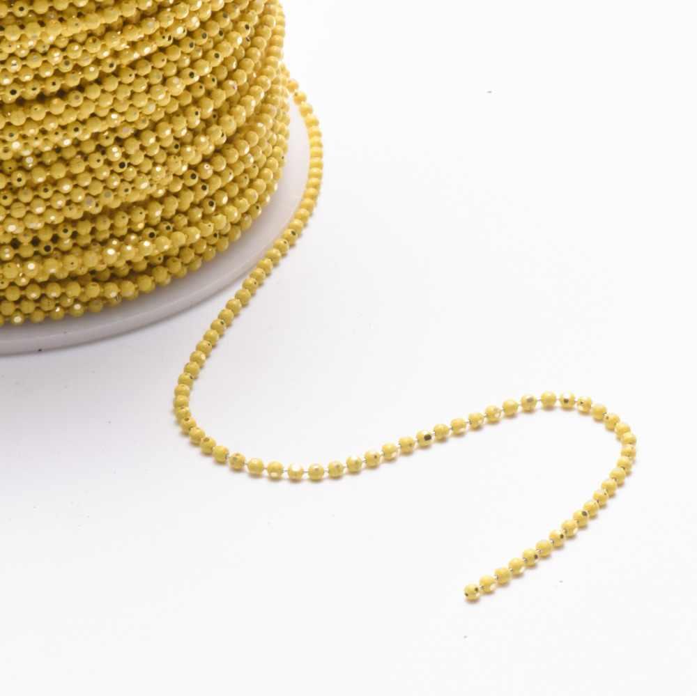 GUFEATHER C31 ، DIY سلسلة من الخرز ، سوار خلخال قلادة ، اكسسوارات المواد ، حبة حجم 1.5 مللي متر ، سلسلة طول 5m