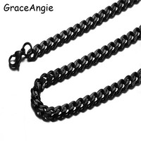 Stainless Steel Snake Chain 24 30inch Gold Color Necklace For Women Men New Wholesale Black Silver