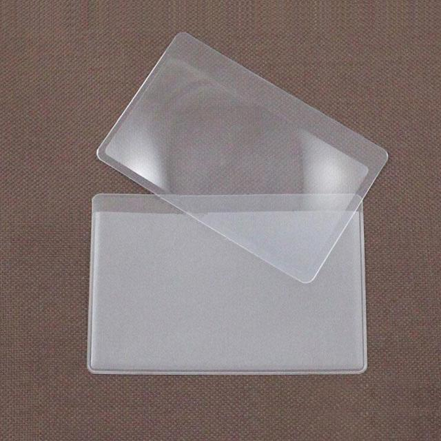 Фото 3 x увеличительное карманное стекло размер кредитной карты прозрачное