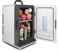 Бесплатная доставка автомобильный холодильник 18L 12 В 220 В Домашний Мини Автомобильное охладитель общежитии холодильник морозильник автомо