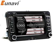 Eunavi Multimedial VW Coche de 7 pulgadas 2 din Reproductor de DVD de Navegación GPS para GOLF 6 nuevo polo Nuevo Bora JETTA PASSAT B6 SKODA GPS Mapa swc