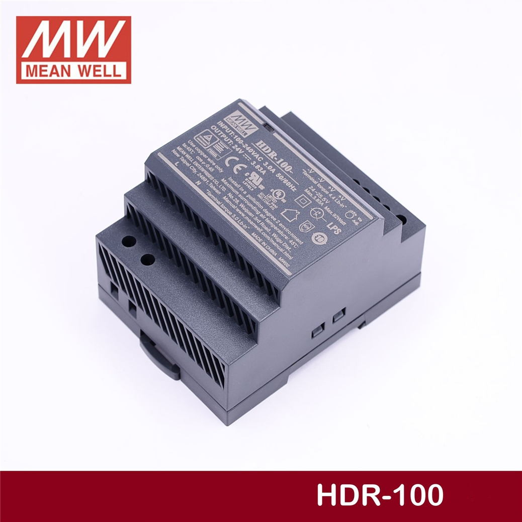 MEAN WELL HDR-100-48N 48V 1.92A meanwell HDR-100 92.2W Single Output Industrial DIN Rail Power Supply цены