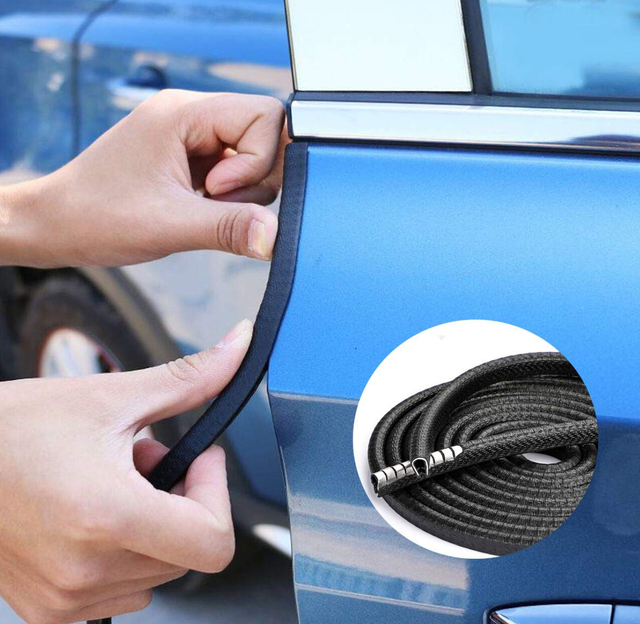 1M Car Door Edge Guards 2019 Protection for fiat 500 stilo ducato palio bravo doblo grande punto linea freemont panda Strada