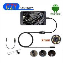 HD720P 5.5mm Dia Android Endoscope Camera 6LED 1M Cable Inspection Borescope USB Mini Waterproof Endoscope Camera for PC Smartph