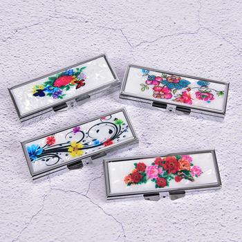 Metalowe pudełko na pigułki Cutter Splitters Pastilleros Estuche składany futerał na pigułki pojemnik na leki Organizer 6 gniazd 85mm * 35mm * 15mm tanie i dobre opinie AACAR Przypadki i rozgałęźniki pigułka pills organizer case