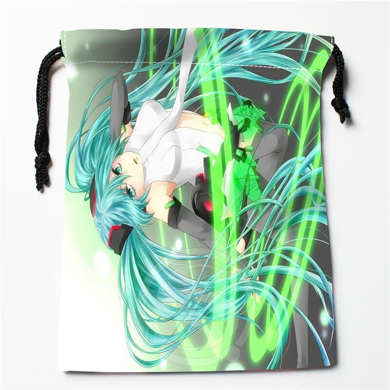 W-165 New Anime Hatsune Miku &W Custom Logo Printed  Receive Bag  Bag Compression Type Drawstring Bags Size 18X22cm R801R165TW