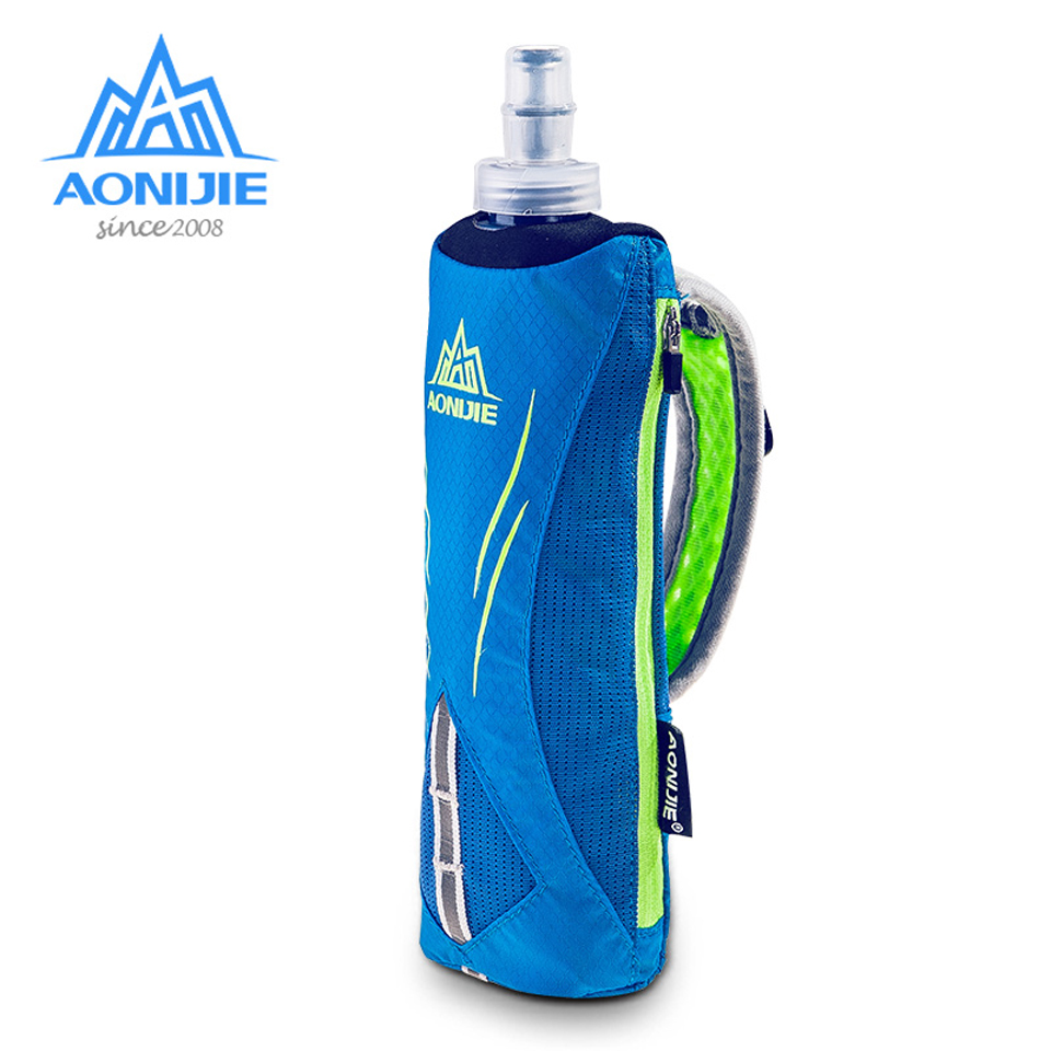 AONIJIE Waterpoof Hand-held Sport Kettle Pack Outdoor Marathon Running Phone Bag for 5.5 inch Phone/500mL Soft Water Flask aonijie foldable soft water bag outdoor sports kettle water storage bottle running hiking travel flask bottle 250ml 500ml