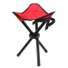 Outdoor portable lightweight Camping Hiking Fishing Folding chair Picnic Garden BBQ Stool Tripod Three feet Chair