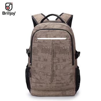 Hot Sell Waterproof Men's thick canvas shoulders package backpack Laptop Backpack School Bag Men Brand Travel Bags Women