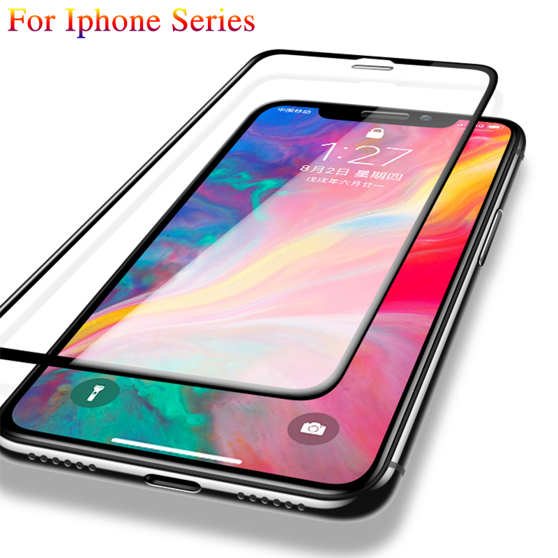 3D Protective Glass For Iphone X Tempered Glass Iphon Ipone For Iphone 7 8 Plus 6 Plus XR Full Cover Glas Screen Protector Film
