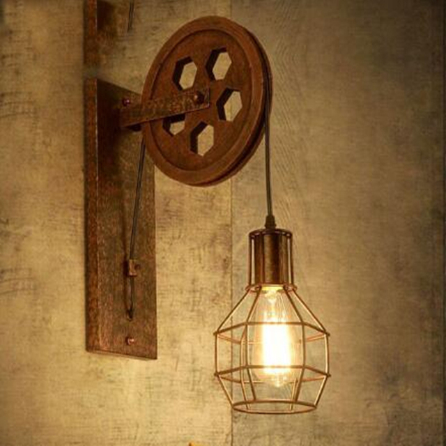 Loft retro lamp creative lifting pulley wall light dining room loft retro lamp creative lifting pulley wall light dining room restaurant aisle corridor pub wall lamp mozeypictures Image collections