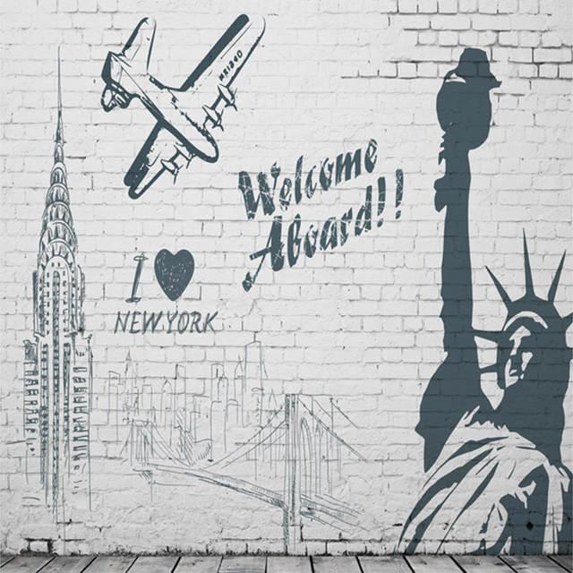 Online Shop Custom Mural Wallpaper Wall Painting Advertising Welcome
