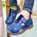 2017 Летом ребенок мужского пола сандалии детские сандалии из натуральной кожи детская обувь