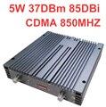 Trabajo de 10000m2 uso Telecom 85dbi 37dbm 5 W booster CDMA repetidor cdma 800 Mhz booster de SEÑAL ampliadora CDMA repetidor for40 antena