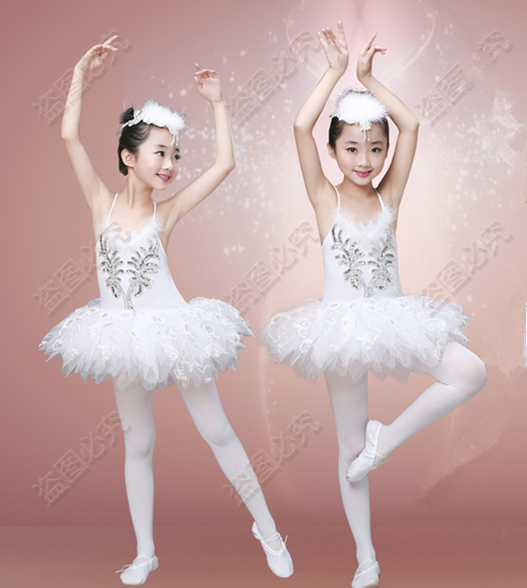 9edf625c9af3 Free Shipping Girls White Swan Lake Ballet Costume Professional Tutu  Dancewear Kids Feather Classical Performance Ballet Dress