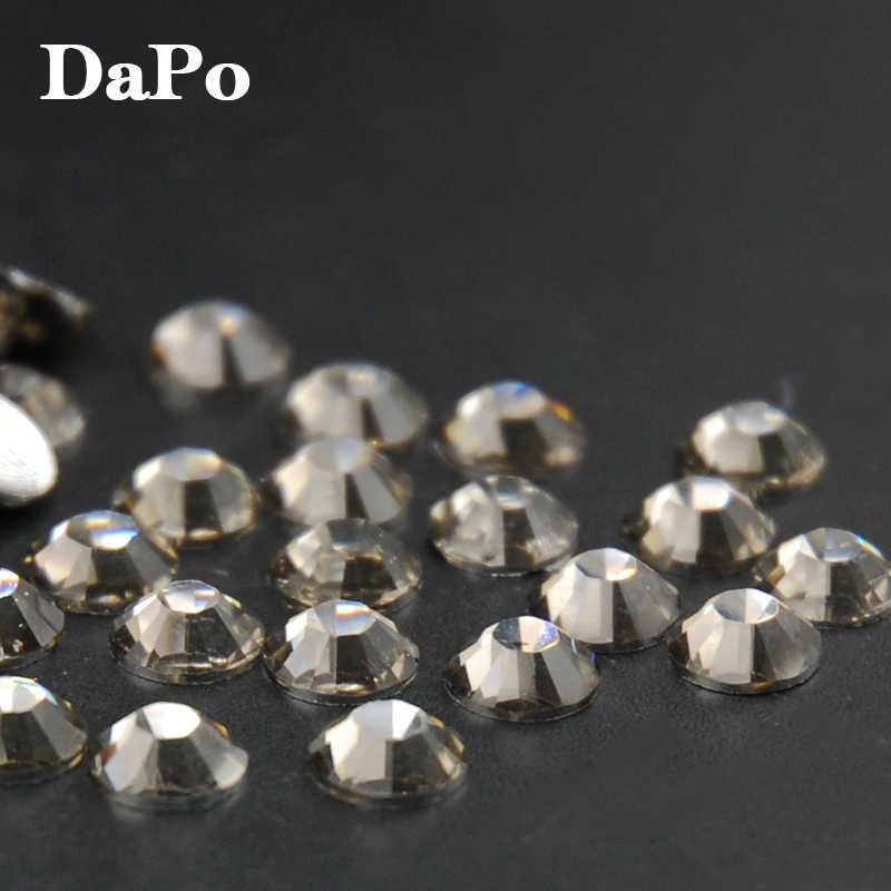 Hot Sale Top Quality Gray Rhinestones Flatback Non Hotfix Stones For Phone Decor 3D DIY Nail Art Diamond 2,3,4,5,6mm
