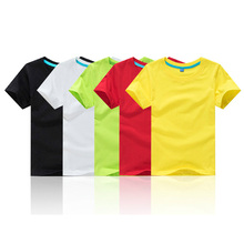 High Quality 100% Cotton Solid Color Children T-shirt Short Sleeve Summer 3-12T Kids Tshirt Boys Girls Tops 11 Colors S-3XL high quality unisex baby boys girls polo shirts children summer short sleeve cotton striped tshirt