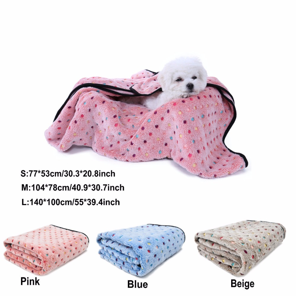 ᗔManta suave lindo para Perros colorido punto manta 3 colores ...