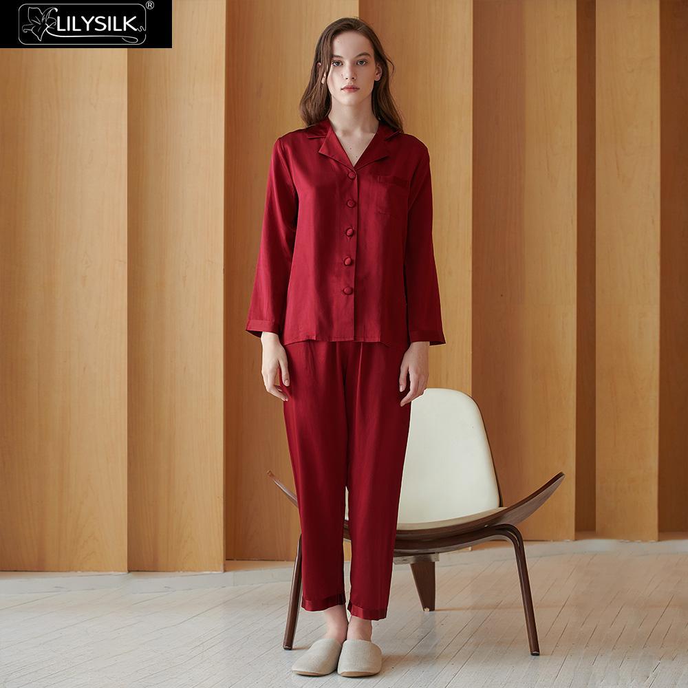 LilySilk Pajamas Set Women 16 Momme Pure 100 Silk Ladies Sleepwear Luxury Natural Full Length Women