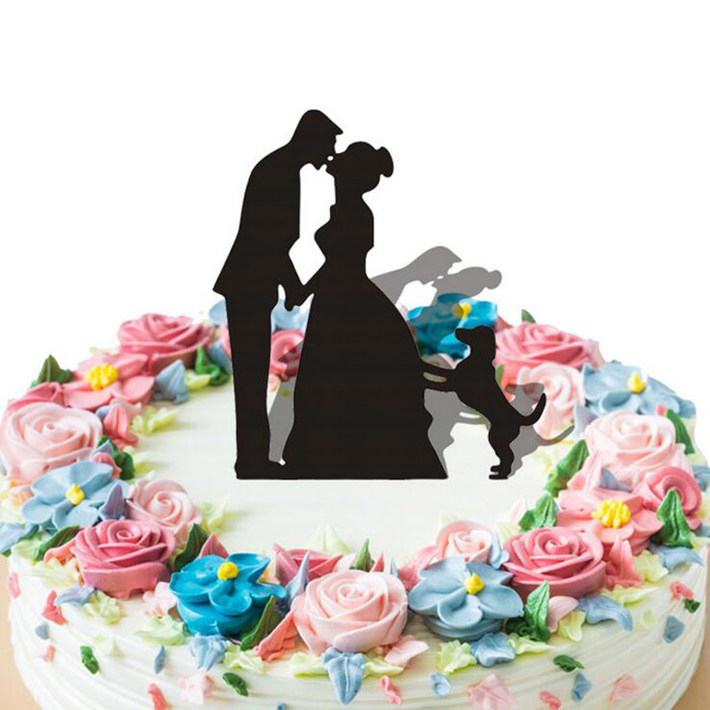 1pcs Acrylic Cake Card Wedding Decoration Abstract Bride And Groom
