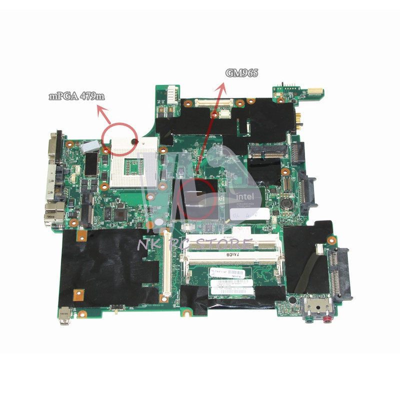 NOKOTION 41W1487 Main Board For Lenovo Thinkpad T61 Motherboard System Board 14.1'' Inch DDR2 Free CPU 41w1364 motherboard main board for ibm lenovo thinkpad t60 t60p 14 1 notebook ati x1300 945pm ddr2 free cpu