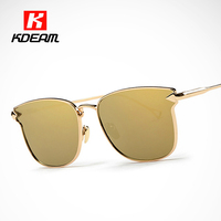Kdeam Happy Arrow Mirror Sunglasses Women Easy To Wear Lightweight Sun Glasses Round Gafas Sol With