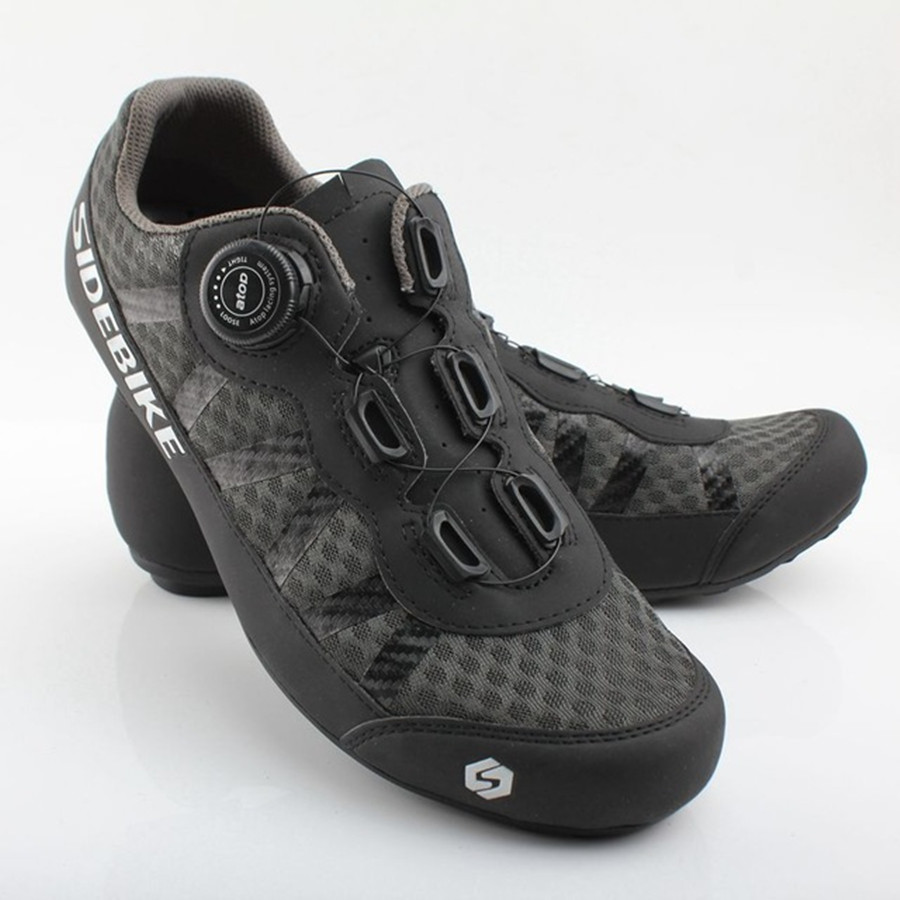 SIDEBIKE Cycling Bike Bicycle Shoes man Sneaker Breathable Outdoor Sport Professional Road Bicycle Shoes Non-Slip No-Lock Shoes