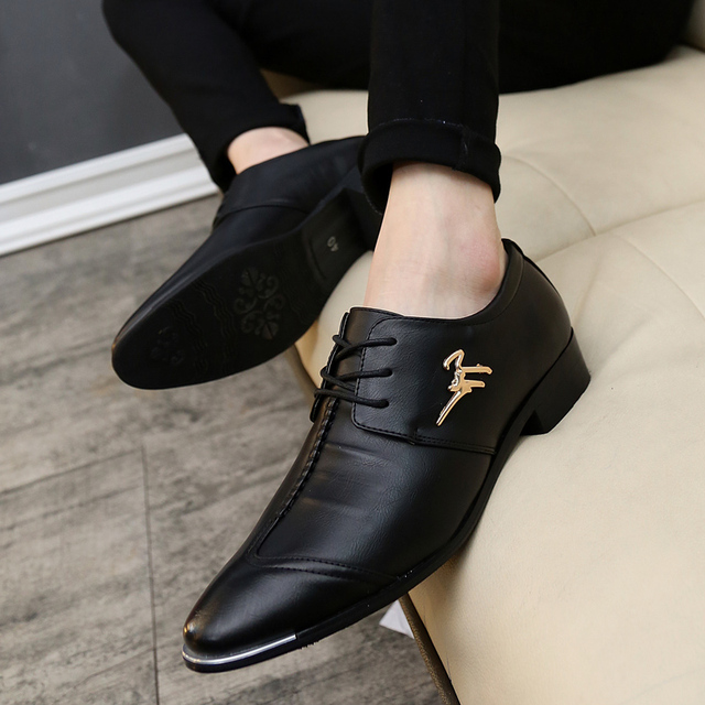 KUYUPP Fashion Men Oxfords Leather Shoes 2016 Round Toe Lace Up Men's Dress Shoes Summer Casual Flats Size 38-43 Mocassin PX115