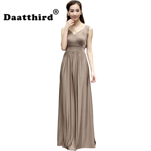 90c1e171004 2018 Women s Sexy V Neck Plus Size Semi-Formal celebrity graduation Dinner Maxi  Dress Wedding Guest Sundress