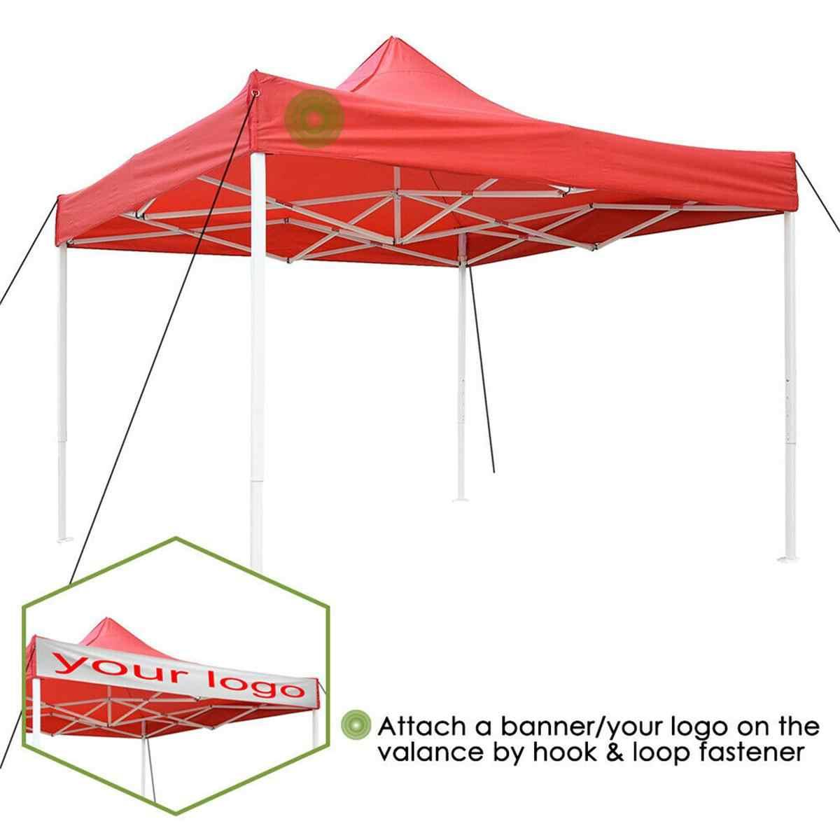 Meigar 10*10ft/10 * 15ft bahçe güneş barınak çadır kırmızı/mavi gölgelik en iyi yedek gümüş kaplama su geçirmez UV koruma