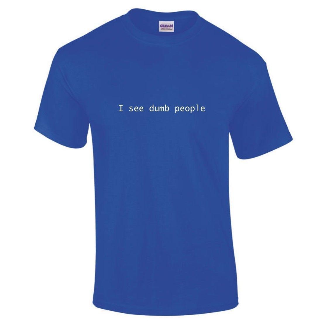 I See Dumb People Sixth Sense Parody BREXIT Remain EU Vote Funny T Shirt New T Shirts Funny Tops Tee New Unisex Funny Tops in T Shirts from Men 39 s Clothing