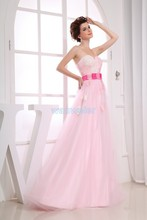 free shipping 2014 new design hot maxi dresses long brides maid dress gown custom size/color pink party Bridesmaid Dresses