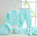 Hot Wholesale  Baby Boys Clothes Set  7PCS/set Newborn Warm Underwear  Cartoon Print Cotton Baby Girls Clothing Supplies 0-3M