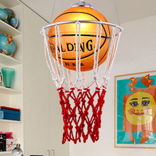 Novelty Glass Basketball shade Led Pendant lights,Modern Creative led Pendant lamps children Bedroom Deco Hanging lamp Fixtures