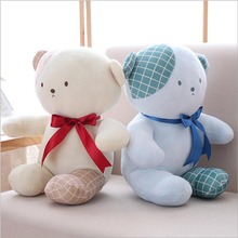 Cartoon Lovers Bear Short Plush Toy Stuffed Animal Doll Soft Plush Pillow Birthday Gift For Children стоимость