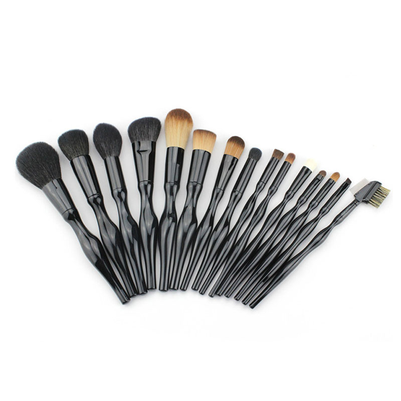 15pcs Body Curve Makeup Brushes Set Foundation Powder Blush Blending Contour Eyeshadow Eyebrow Comb Brush Cosmetics Beauty Kits pro 15pcs tz makeup brushes set powder foundation blush eyeshadow eyebrow face brush pincel maquiagem cosmetics kits with bag