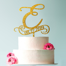 e cake toppers for wedding, Personalized Wedding Cake , rustic monogram topper, initial topper