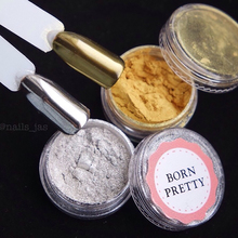 1Box BORN PRETTY Gold Silver Mirror Powder Holographic Powder 1g Nail Glitter Dust Nail Art Sequins Chrome Mirror Pigments