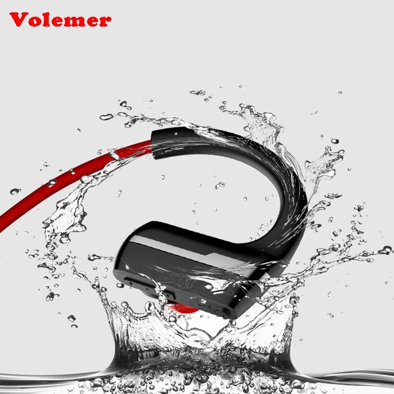 Volemer P9 IPX4 Bluetooth Earphone Bluetooth 4.1 Headset Wireless Sports Headphone Stereo Auriculares Earhook for iPhone/Xiaomi dbigness sport running bluetooth earhook headphone mini wireless earphone stereo noise canceling auricular for xiaomi iphone