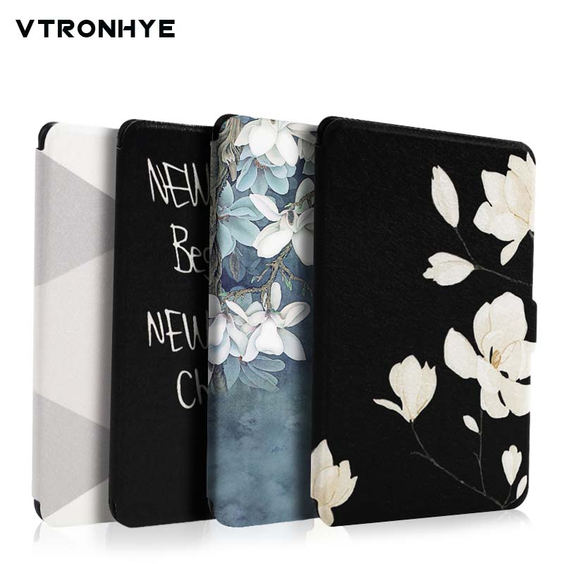 где купить For Amazon Kindle Paperwhite 1/2/3 Smart Cover Super light Painting eBook Case for Kindle Paperwhite 1/2/3 with Auto Wake/Sleep дешево