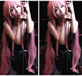 IMCOSER High quality  Free Shipping New Future Diary Mirai Nikki Gasai Yuno Cosplay Women's Wig  beautiful hair cute pink wig