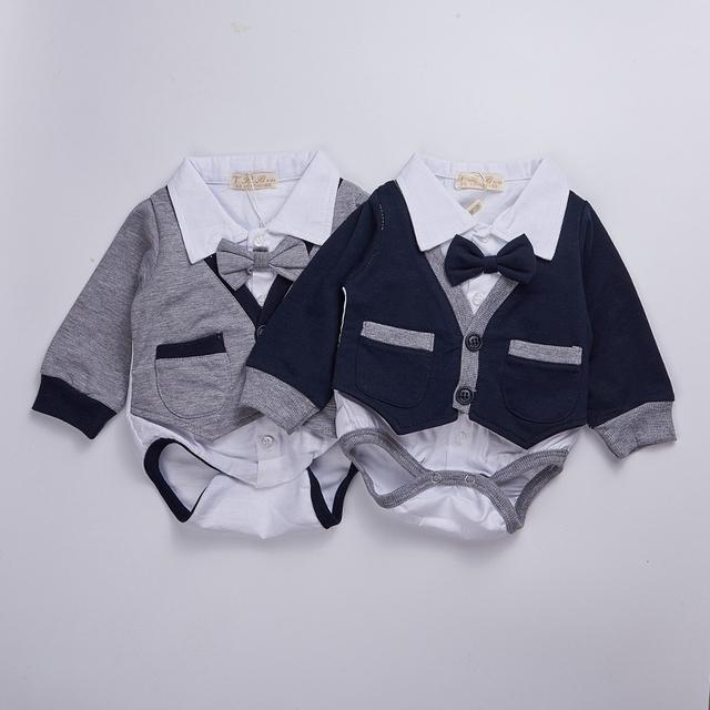 Nova roupa Do Bebê 2016 primavera bebê bodysuit Crianças recém-nascidas equipamento do bebê Menino luva cheia com Vestidos arco Meninas Roupas Bebes