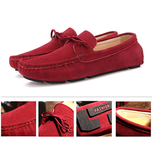 Image 4 - EOFK 2020 Autumn Women Loafers Moccasin Genuine Leather Flats Woman Lady Femme Casual Slip on Blue Large Size Shoes