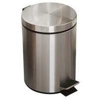8L 욕실 쓰레기 수 라운드 단계 풋 페달 쓰레기통 양동이 뚜껑 데스크탑 화장실 주방 자동차 양동이 쓰레기통