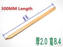 2 шт. 300 мм плоская тепловая труба из чистой меди, ПК тепловая труба, переменная тепловая труба «сделай сам» 2,0 мм, ширина 8,4 мм, тепловая труба